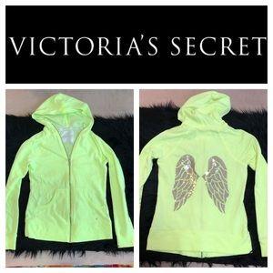 Victoria's Secret Sequin Wings Neon Zip-up XS